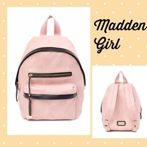MADDEN GIRL▪️Mini Pink Blush Black Backpack